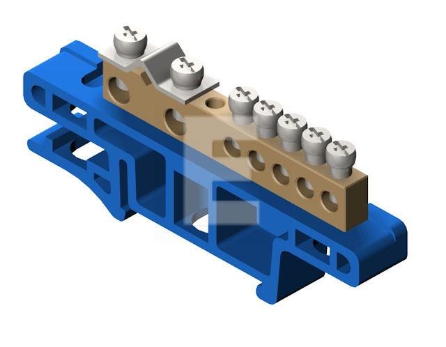 Listwa Zaciskowa Na Szynę 7 Torowa Niebieska Th35 Lz 7 N 0920 00 Elektro Plast
