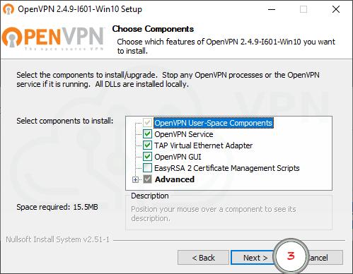 strona OpenVPN GUI główna